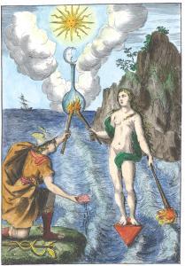 Frontispiece From Nicolas De Locques Les Rudiments De La Philosophie Naturelle Paris 1665, Alchemical And Hermetic Emblems 1