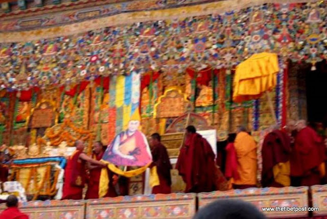 Massive religious gathering and enthronement of Dalai Lama's portrait in Lithang, Tibet. - l56.JPG