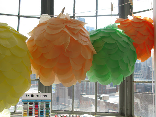 Steph's hanging lanterns in a variety of other colors hung in the craft room until they were recently archived.