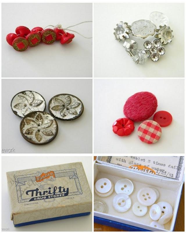 1-Vintage Button Round UP-001