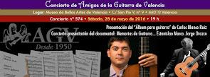 Concierto-presentación Carlos Blanco Ruiz y Jorge Orozco, en Amigos de la Guitarra de Valencia