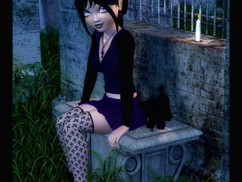 Anime Goth, Gothic Girls