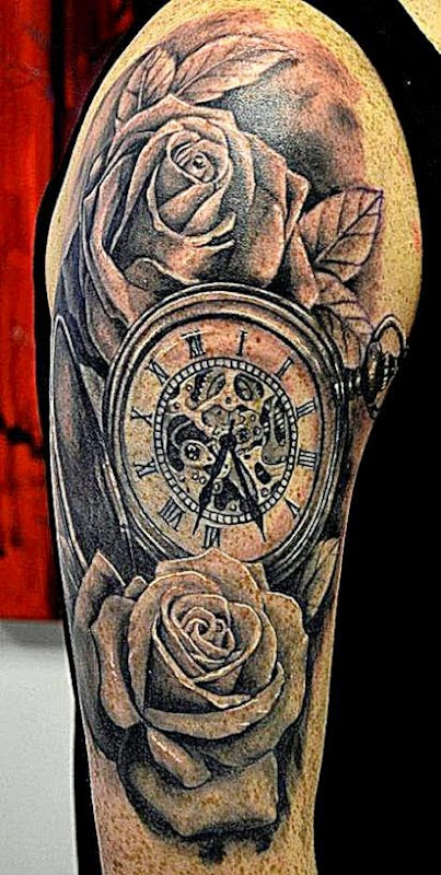 Clock Tattoo Design on Pinterest