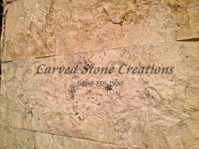 Samples, wall stone