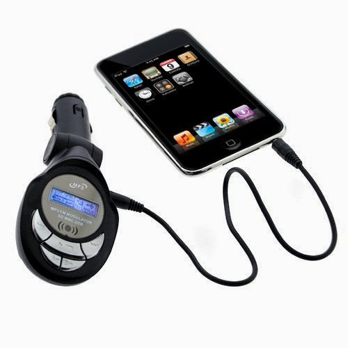 GTMax 3.5mm LED FM Transmitter with SD Slot for Microsoft Zune HD