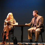 """Cristine M. Loffredo and Tim Orcutt in """"Sure Thing"""" as part of THE IVES HAVE IT - January/February 2012.  Property of The Schenectady Civic Players Theater Archive."""