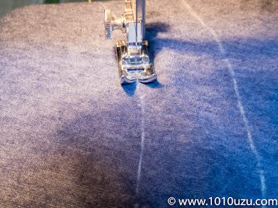 ファスナーの縫い止まりを縫う