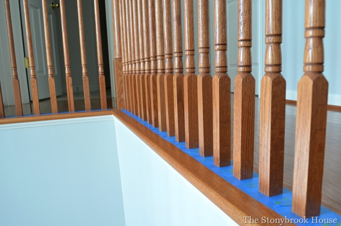Before Stair Spindles