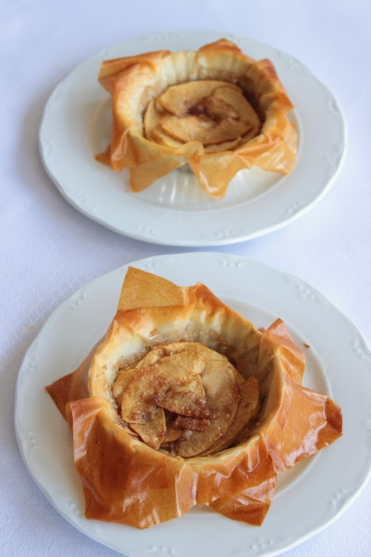 Tartaletas de manzana con masa filo