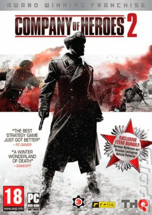Cover Of Company of Heroes 2 (2013) Full Latest Version PC Game Free Download Resumable Links at Alldownloads4u.Com