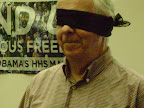 Good sport Joe O'Mara participates in Conscience demonstration