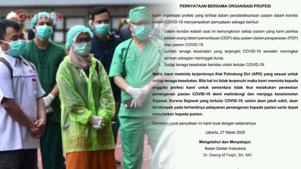 APD yang Dijanjikan Jokowi Belum Datang, Tenaga Medis Ancam Mogok Kerja