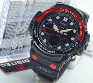 jam tangan Digitec 2092 warna merah hitam