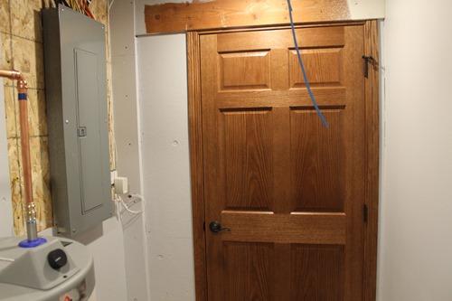 door downstairs