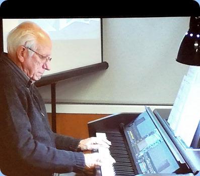 Rob Powell playing the Clavinova CVP-509. Photo courtesy of Dennis Lyons.