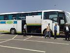 Subida al autobus para Chauen