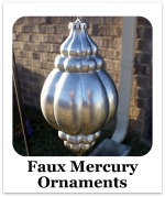 Faux Mercury Glass Ornaments