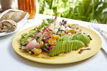 A lobster club salad at Wolfgang Puck at the Hotel Bel-Air.