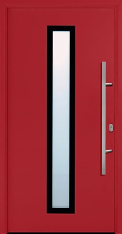 Garador FGS 600 entrance door in Ruby Red (RAL 3003)