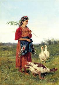 Владимир Маковский Девочка с гусями.jpg