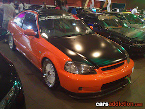 Honda Civic Coupe in Orange Wrap