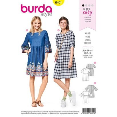 Burda-swing-dress-pattern-B6401-envelope-front