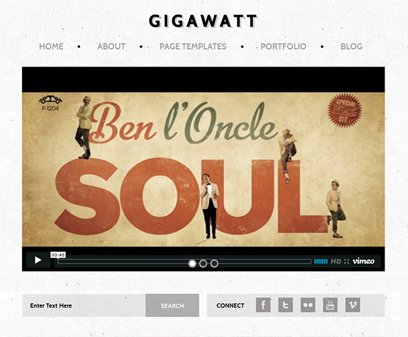 Gigawatt Vintage WordPress Theme