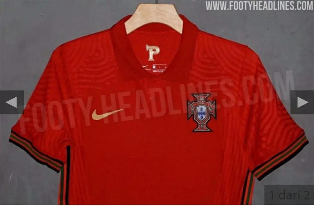 gambar detail Bocoran Jersey Portugal Home Euro 2020