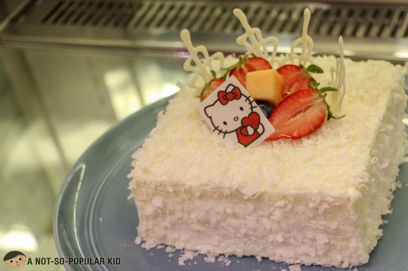White chocolate cheesecake Hello Kitty
