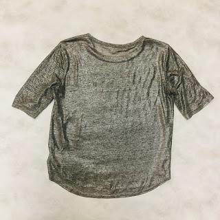 Rebecca Taylor Metallic Linen T-Shirt