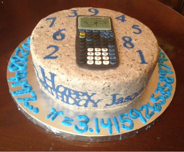 Cake With Mathematics Theme Receipie
