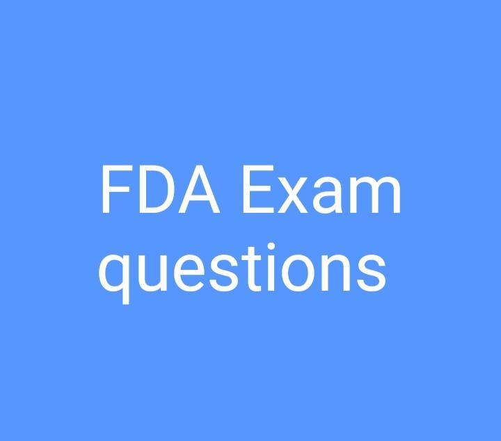 28/02/2021 FDA Exam questions