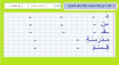 رائز التقويم التشخيصي عربية المستوى الأول 2021 2022