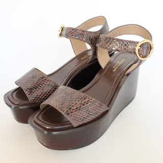 Michael Kors Collection Snakeskin Platform Sandals