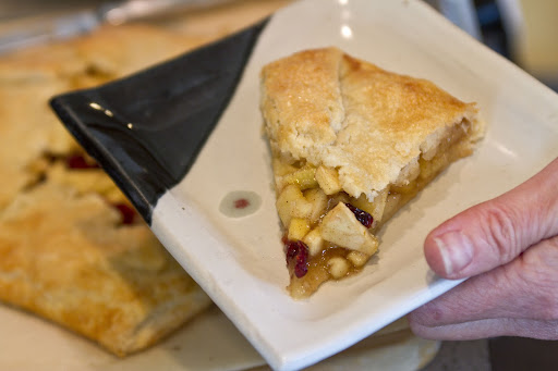 Slice of apple-pear galette, at Barbara Schwartz's home in Madrona [Seattle Times/Dean Rutz/Nov 2011]