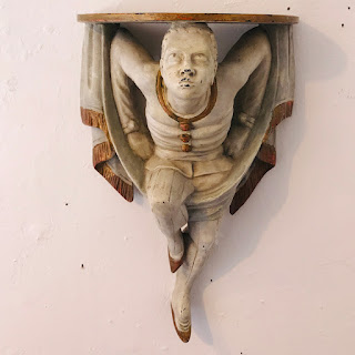 Italianate Figural Wall Shelf