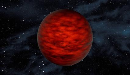 ilustração de uma anã marrom de baixa massa