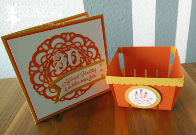 Stampin' Up! - Geburtstag, Birthday, InColors, Dein Tag, Another Great Year, Banner, Großes Zierdeckchen, Large Paper Doily, Framelits Circle Collection, Berry Basket, Körbchen