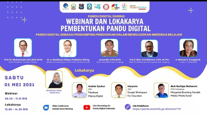 Hardiknas 2021, Disdik Bersama JSDI Sul-Sel Gelar Webinar, Lokakarya dan Parade Literasi Pendidikan