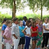 5A en 5B op leerwandeling in het park (09/12)