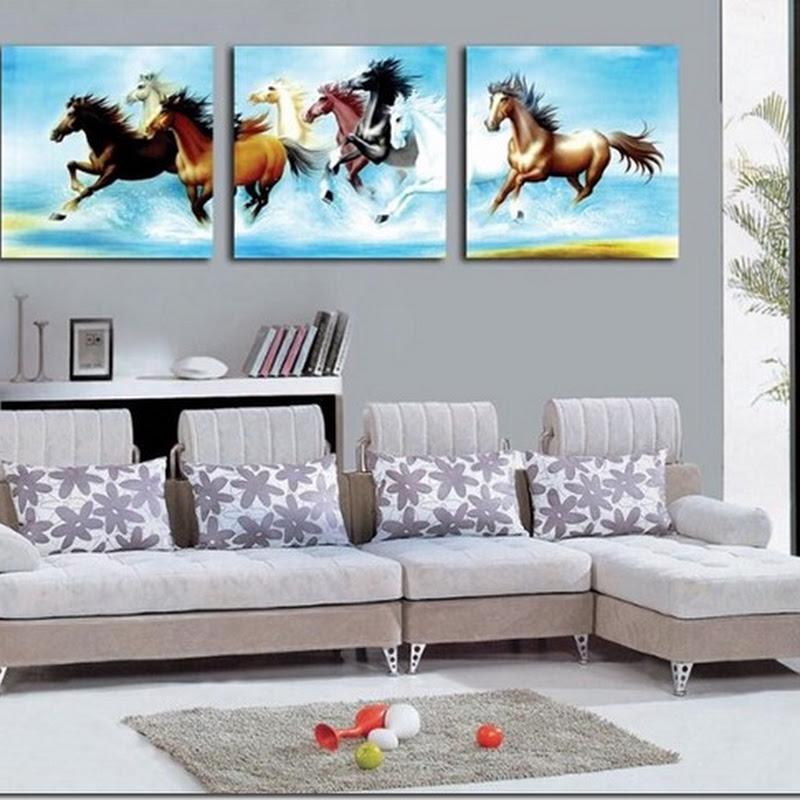 ภาพกรอบลอย ม้ามงคล 8 ตัว เสริม ฮวงจุ้ย มงคล โชคลาภ ความสวยงามแก่บ้าน 3