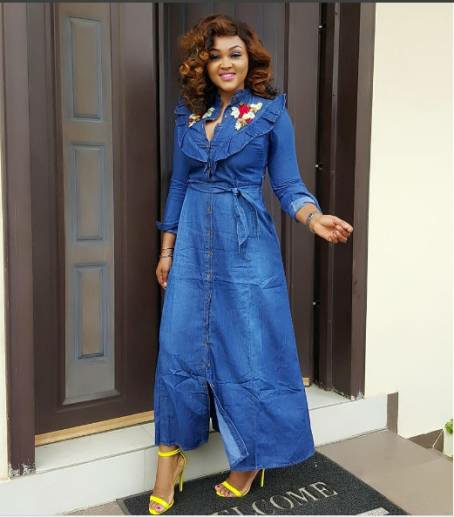 Mercy Aigbe Is Stunning In Denim Gown