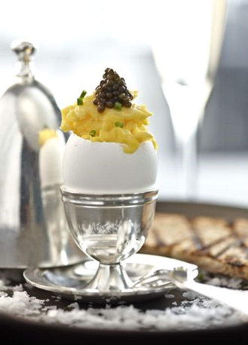 caviar eggs room service