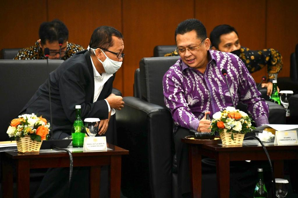 Rapat Gabungan Pimpinan MPR RI Sepakati Format Sidang Tahunan MPR RI