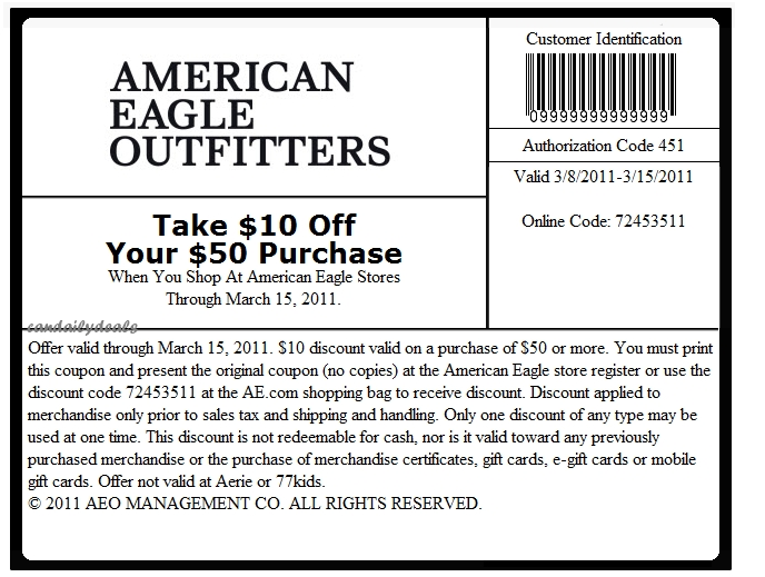 Ae outfitters printable coupons