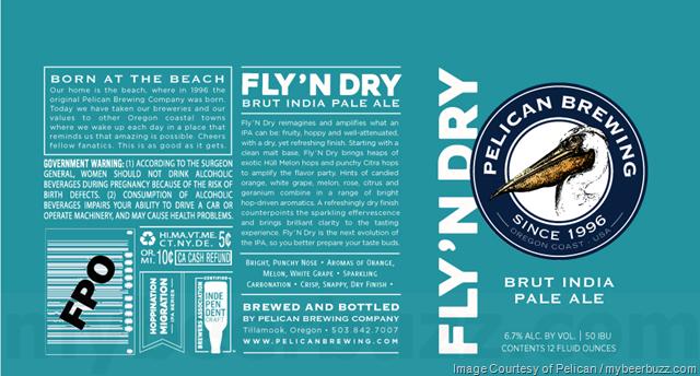 Pelican Adding Fly 'N Dry Brut IPA