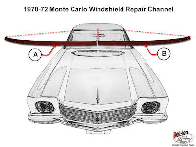 1970 - 1972 Monte Carlo Window Rust Patch Panels and