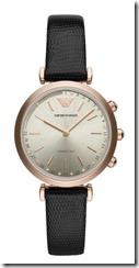 Emporio Armani Leather Strap Smartwatch
