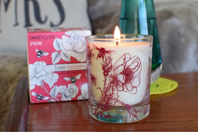Beefayre Bee Mine Rose Candle