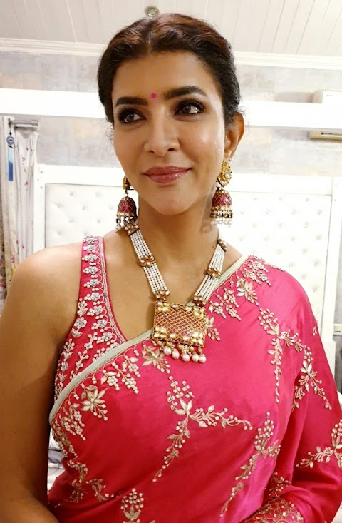 Lakshmi Manchu's Latest Saree Pictures Prove That She Is Always Rocks The Saree Look !